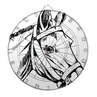 Horse Drawing Head Dartboard