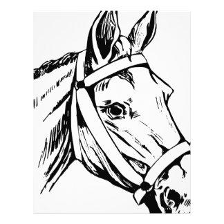 Horse Drawing Head Letterhead