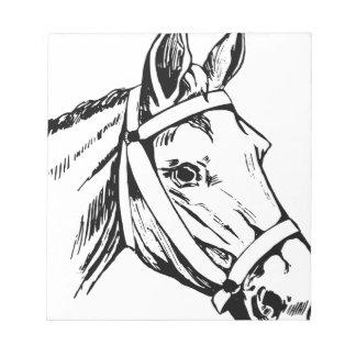 Horse Drawing Head Notepad