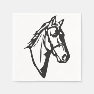 Horse Drawing Paper Napkins