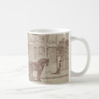 Horse drawn ambulance coffee mug