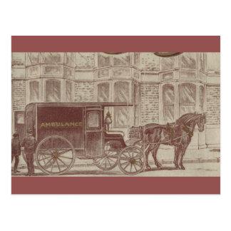 Horse drawn ambulance postcard