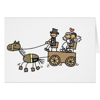 Horse Drawn Carriage For Weddings Card