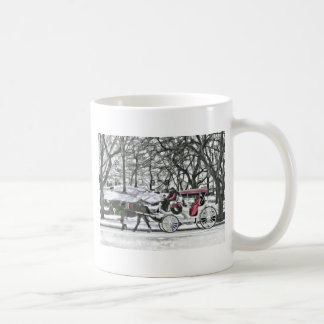 Horse Drawn Carriage in New York City Coffee Mug