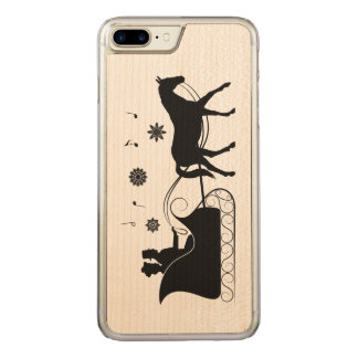 Horse-Drawn Sleigh in the Snow with Music Carved iPhone 7 Plus Case