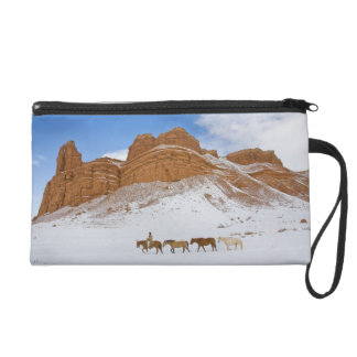 Horse Drive Through the Snow 2 Wristlets