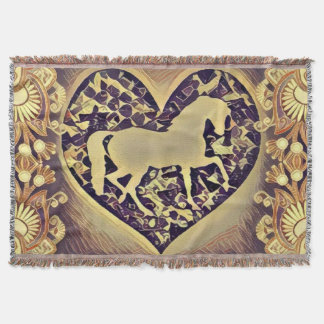 Horse Enthusiasts Throw Blanket