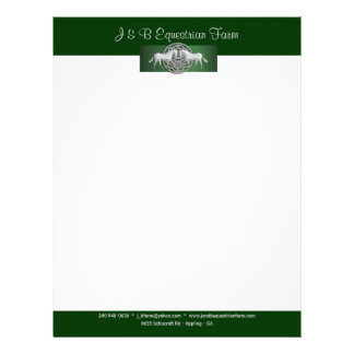 Horse equine equestrian farm Style 1 amended Letterhead