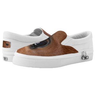 Horse Eye Slip-On Sneakers