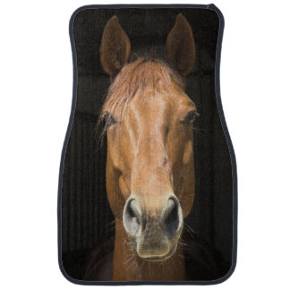 Horse Face Photograph Car Mat