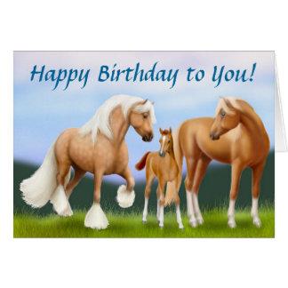 Horse Family Happy Birthday Card