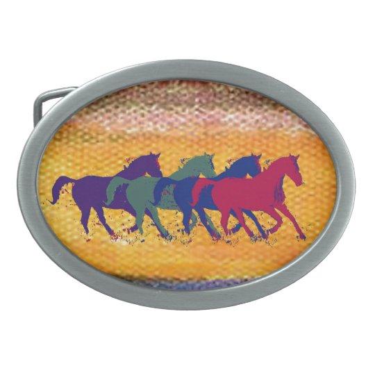 horse farm animal oval belt buckles