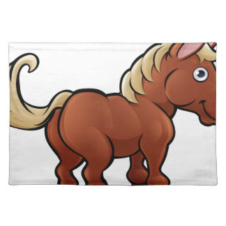 Horse Farm Animals Cartoon Character Placemat