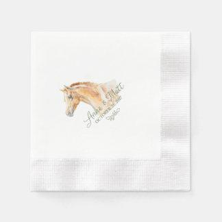 Horse Farm Wedding cocktail napkin Disposable Napkins