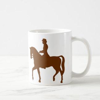 Horse & Female Rider Classic Silhouette Image Mug
