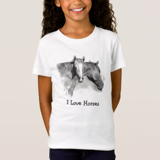 HORSE: FOAL: LOVE HORSES: PENCIL: GIRLS T-Shirt