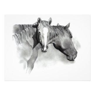 HORSE: FOAL: PENCIL ART: REALISM LETTERHEAD