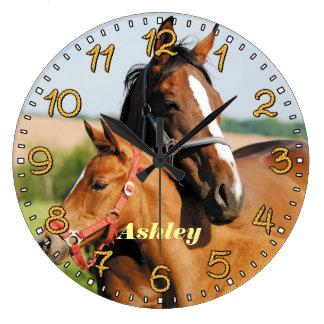 Horse & Foal Personalizable Wall Clock