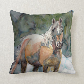 Horse Freedom Throw Pillow