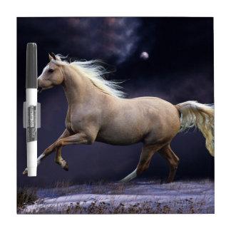 horse galloping dry erase whiteboard