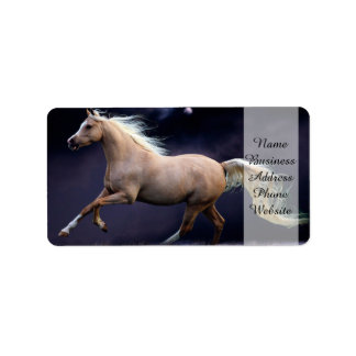 horse galloping label