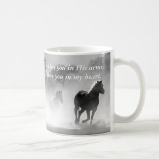 Horse Galloping Out of the Mist Coffee Mug