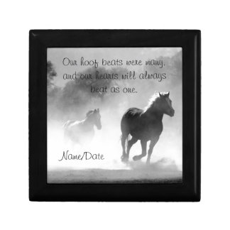 Horse Galloping Out of the Mist Keepsake Boxes