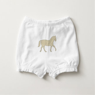 Horse - geometric pattern  - beige and white. diaper cover