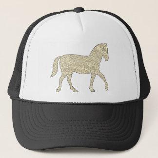 Horse - geometric pattern  - beige and white. trucker hat