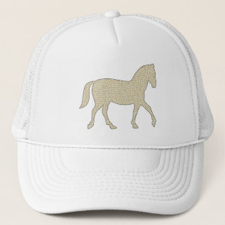 Horse - geometric pattern  - beige and white. trucker hat