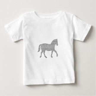 Horse - geometric pattern  - black and white. baby T-Shirt