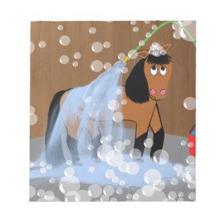 Horse Getting a Bath.tif Notepads