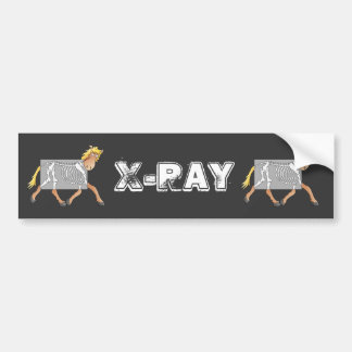Horse getting an x-ray bumper sticker