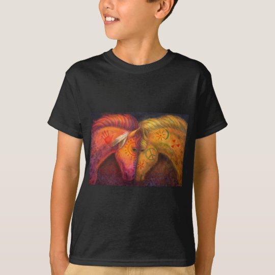 Horse Gift, War Peace Horses, Western Animal Art T-Shirt