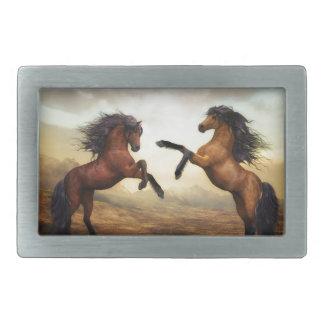 Horse Gifts Rectangular Belt Buckles