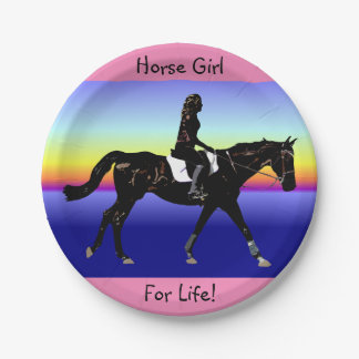 Horse Girl For Life! 7 Inch Paper Plate