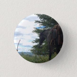 Horse Grazing Button