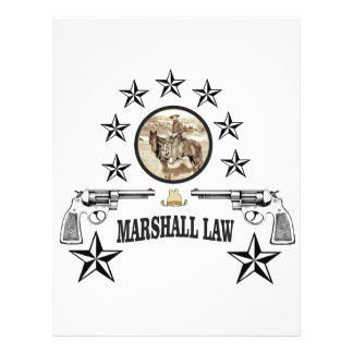 horse guns and marshal law letterhead