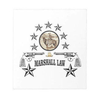 horse guns and marshal law notepad