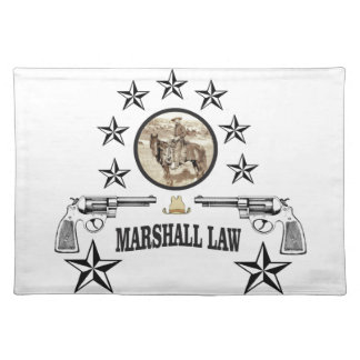 horse guns and marshal law placemat