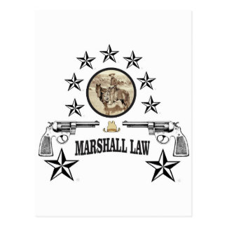 horse guns and marshal law postcard