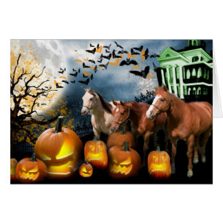 Horse Halloween Greeting Card