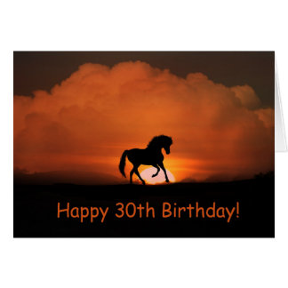 Horse Happy 30th Birthday Card