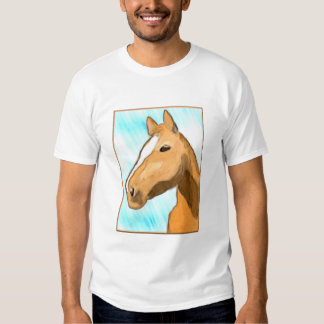 Horse Head Digital Painting Shirt