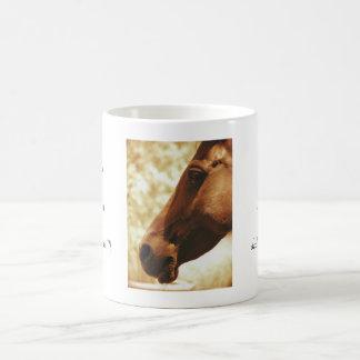 Horse Head in Warm Tones animal photo portrait Basic White Mug
