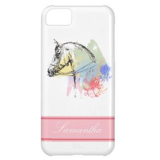 Horse Head Watercolors iPhone 5C Cases