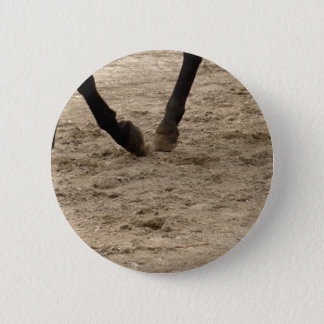 Horse hooves 2 inch round button