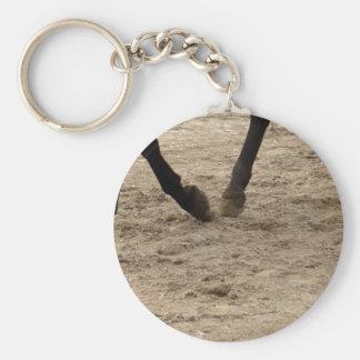 Horse hooves basic round button keychain