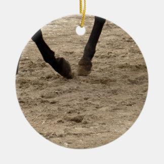 Horse hooves ceramic ornament