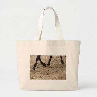Horse hooves large tote bag